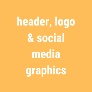 design bundle – header, logo & social media graphics