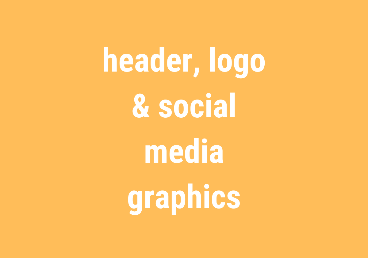 design bundle – header, logo & social media graphics