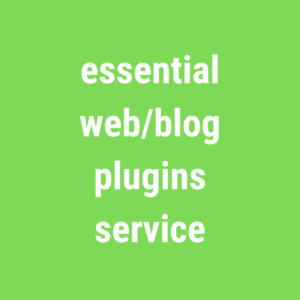 essential web/blog plugins service