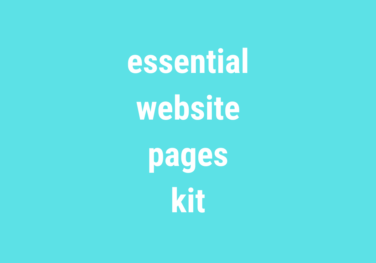 essential website pages kit