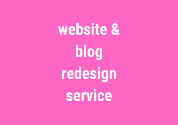 website blog redesign