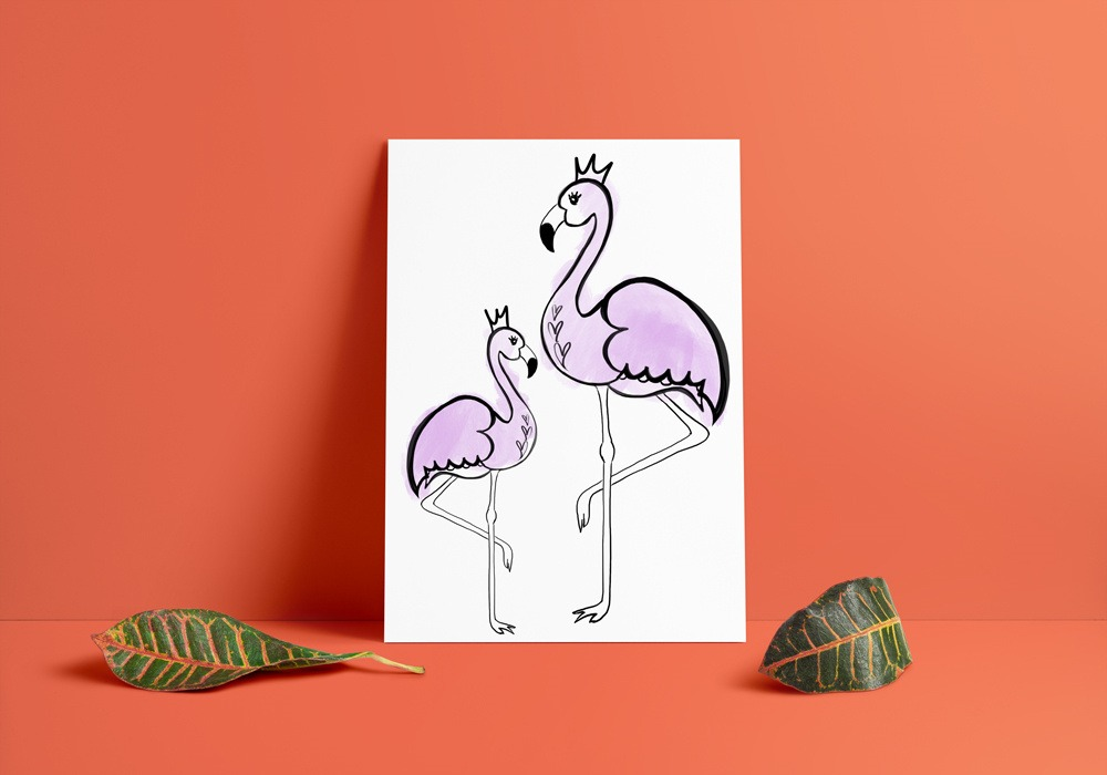 Flamingos Art Print