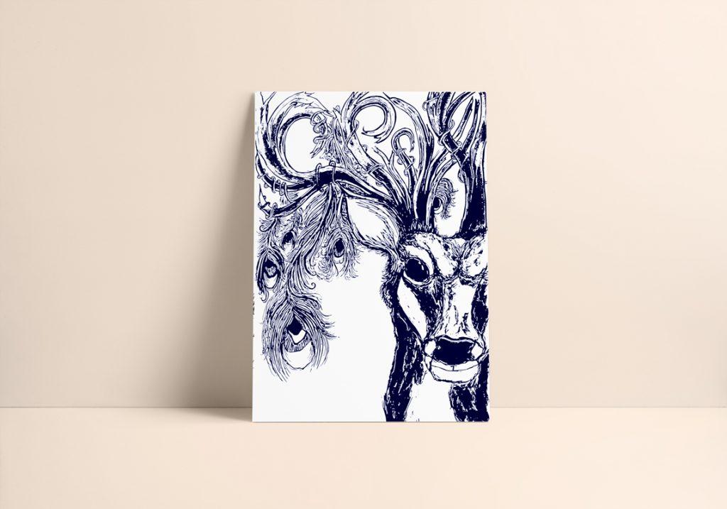 Stag Art Print Rosarts