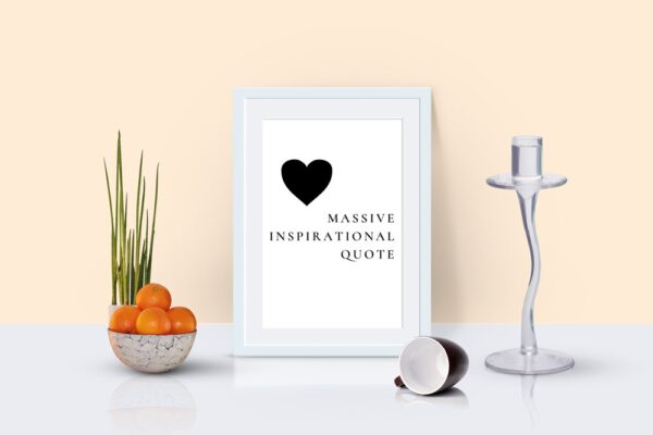 Massive Inspirational Quote
