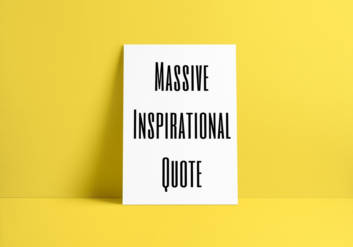 massive inspirational quote art print