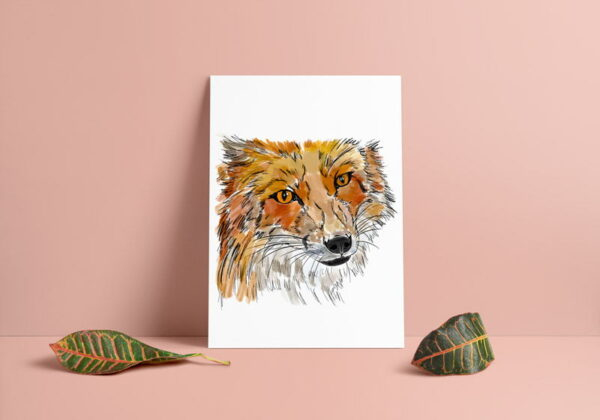 Fox Art Print Colour
