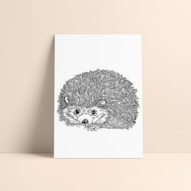Hedgehog Art Print Rosarts