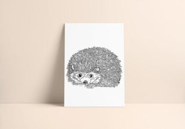 Hedgehog Art Print Rosarts