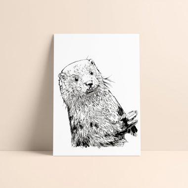 Otter Art Print Rosarts