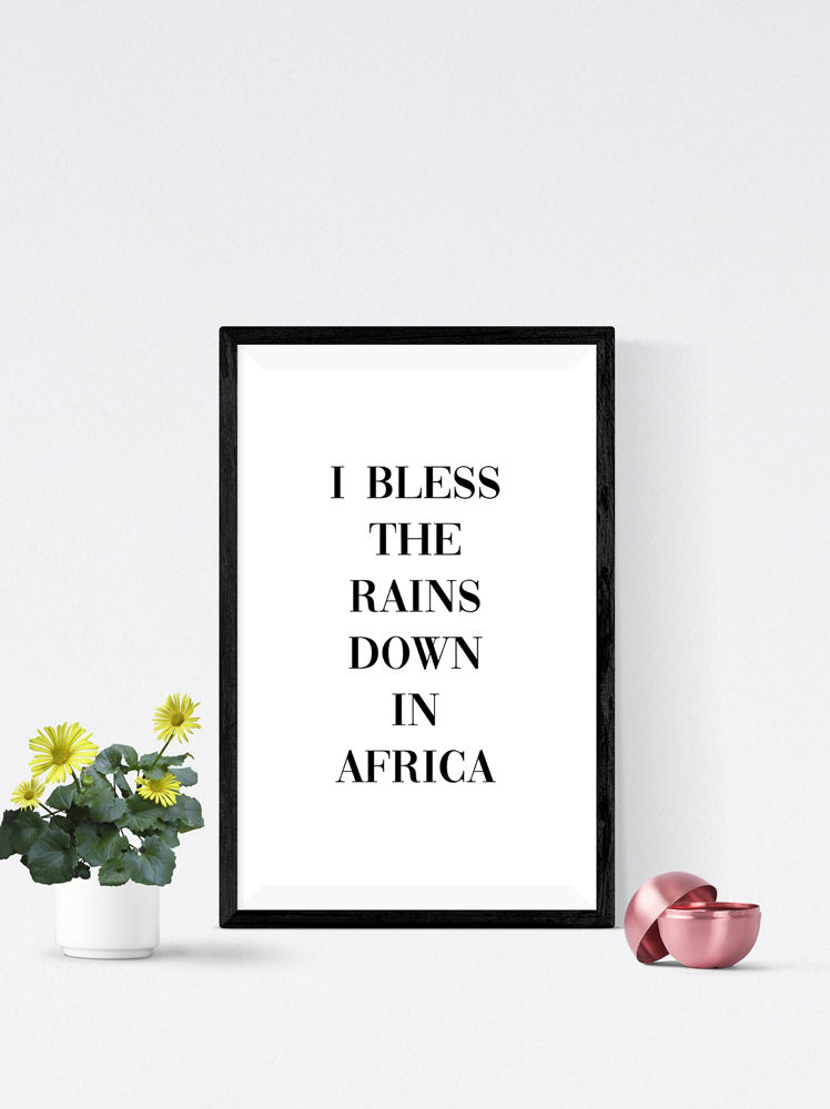 Africa Part Three Quote Art Print