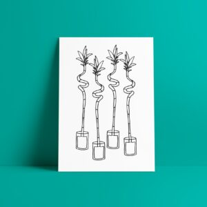 houseplants art print