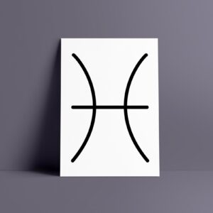 Pisces Zodiac Art Print
