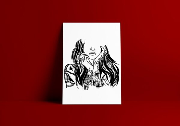 What Were You Thinking Black And White Art Print