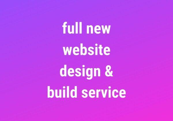 Website Design & Build Service